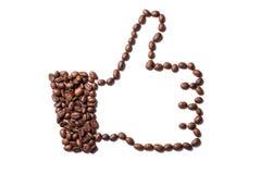 Большие пальцы руки кофе вверх Стоковое Изображение RF