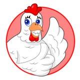 Большие пальцы руки курицы вверх Стоковое Фото