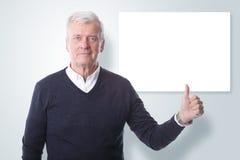 Большие пальцы руки поднимают и добавляют ваше собственное сообщение стоковые изображения rf