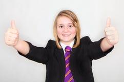 Большие пальцы руки поднимают студента Стоковое Изображение RF