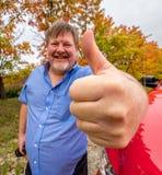 большие пальцы руки человека вверх стоковые фото