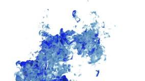 Большие перегар или чернила в движении воды в замедленном движении с маской альфы Используйте его для предпосылки, перехода или в иллюстрация вектора