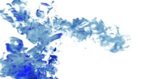 Большие перегар или чернила в движении воды в замедленном движении с маской альфы Используйте его для предпосылки, перехода или в бесплатная иллюстрация