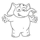 Большие персонажи из мультфильма вектора собрания слонов на изолированной предпосылке Добро пожаловать Руки ходов иллюстрация штока