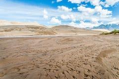 Большие песчанные дюны Колорадо Стоковые Изображения
