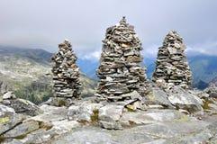 Большие пирамиды из камней камней Стоковые Изображения RF