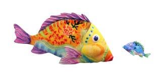 Большие рыбы против маленьких рыб Стоковые Изображения