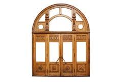 Большие старые деревянные двери стоковые изображения rf