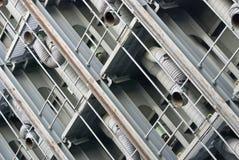 Большие трубопроводы ventillation металла стоковое изображение