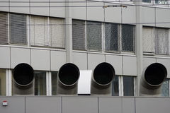 Большие трубы вентиляции Стоковая Фотография