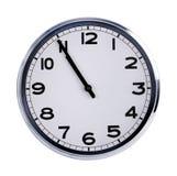 Большие часы показывают 5 минут до 11 Стоковые Фотографии RF