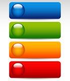 Большие яркие, красочные кнопки иллюстрация штока