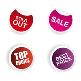 Большие ярлыки продажи Стоковое Изображение RF