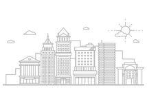 Большие megapolis небоскребов делового центра города Стоковая Фотография