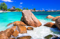 Большинств красивые тропические пляжи - острова Сейшельских островов Стоковые Фото