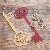 2 больших богато украшенных ключа Стоковые Фото