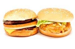 2 больших бургера Стоковая Фотография RF