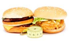 2 больших бургера Стоковое Изображение