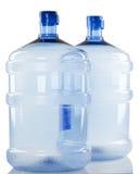 2 больших бутылки воды Стоковые Фото