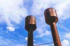 2 больших железных водонапорной башни Стоковая Фотография RF