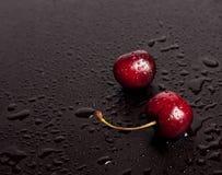 2 больших красных cherryes Стоковое Фото
