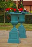 2 больших классических цветочного горшка Стоковое Изображение