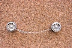 2 больших соединения для воды на стене Стоковая Фотография