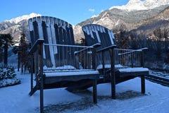 2 больших стуль в горах Стоковая Фотография RF