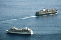 2 больших туристического судна Стоковые Фотографии RF