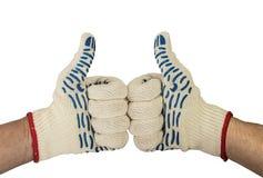 2 большого пальца руки вверх с белой предпосылкой Стоковые Фотографии RF