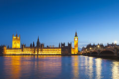 Большое Бен, Вестминстер, парламент Великобритании, Лондон Стоковое Фото