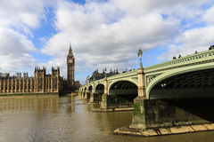 Большое Бен и мост Вестминстера Стоковые Фотографии RF