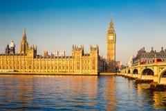 Большое Бен и парламент Великобритании, Лондон Стоковая Фотография RF