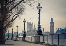 Большое Бен и парламент Великобритании, Лондон Стоковое Изображение
