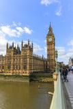 Большое Бен и часть дома парламента Стоковое фото RF