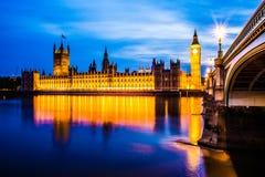 Большое Бен и Parlament Лондон Стоковая Фотография