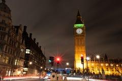 Большое Бен, парламент квадратное Nightscape Стоковые Фото
