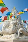 Большое белое stupa Стоковое Изображение