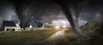 Большое бедствие торнадо Стоковые Фото