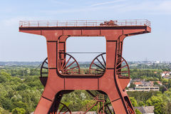 Большое бывшее промышленное место Zollverein в городе Эссена Стоковые Фотографии RF