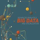 Большое визуализирование данных Футуристическое infographic Дизайн информации астетический Визуальная сложность данных Стоковое Изображение