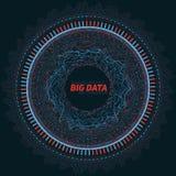 Большое визуализирование циркуляра данных Футуристическое infographic Дизайн информации астетический Визуальная сложность данных Стоковое Фото
