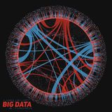 Большое визуализирование циркуляра данных Футуристическое infographic Дизайн информации астетический Визуальная сложность данных Стоковые Изображения
