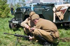 большое война реконструкции Стоковая Фотография