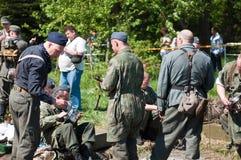 большое война реконструкции Стоковая Фотография RF