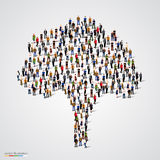 Большое дерево сформированное из людей Стоковая Фотография RF