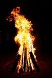 Большое желтое fonfire Стоковое Изображение