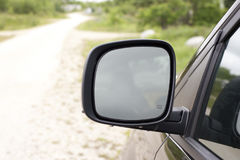 Большое зеркало фургона стороны Стоковое Фото