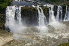 Большое Игуазу Фаллс Естественный интерес мира Стоковое Фото