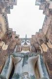 Большое изображение Будды в виске приятеля Wat Sri Стоковая Фотография RF